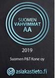 Suomen Vahvimmat yrityslogo Suomen P&T Kone